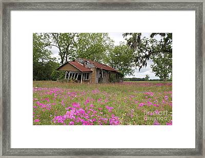 Still Life With Old House Framed Print by Theresa Willingham