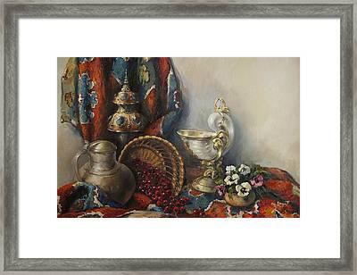 Still-life With Pansies Framed Print by Tigran Ghulyan