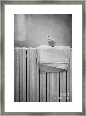Still Life With Pear Framed Print by Diana Kraleva