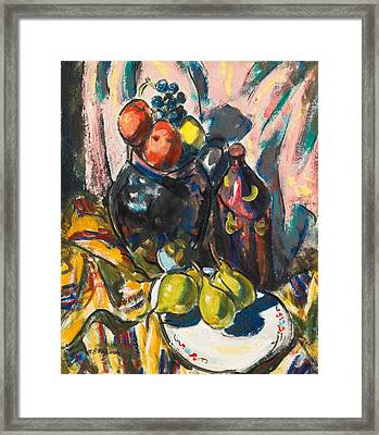 Still Life With Pears Framed Print by Alfred Henry Maurer