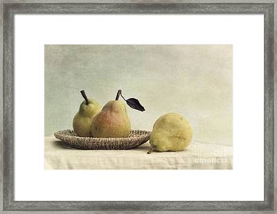 Still Life With Pears Framed Print by Priska Wettstein