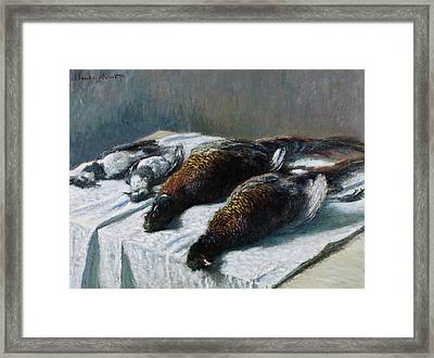 Still Life With Pheasants And Plovers Framed Print by Claude Monet