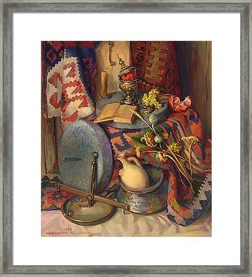 Still Life With Special Stones For Getting Wheat Flour Framed Print by Meruzhan Khachatryan