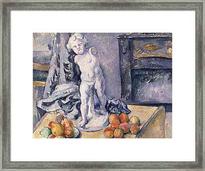 Still Life With Statuette Framed Print by Paul Cezanne