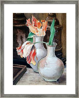 Still Life With Tulips Framed Print by Irina Sztukowski