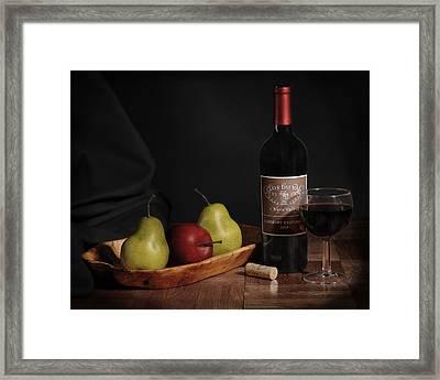 Still Life With Wine Bottle Framed Print by Krasimir Tolev