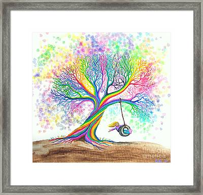 Still More Rainbow Tree Dreams Framed Print by Nick Gustafson