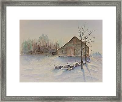 Still River Barn Framed Print by Michael McGrath