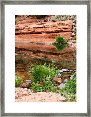 Still Waters At Slide Rock Framed Print by Carol Groenen
