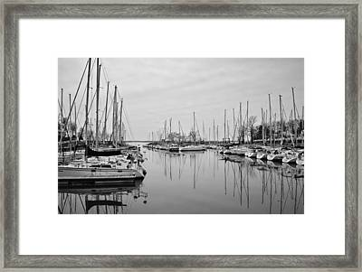 Still Waters B/w Framed Print by Greg Jackson
