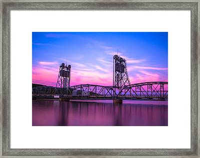 Stillwater Lift Bridge Framed Print by Adam Mateo Fierro