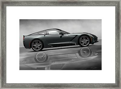 Stingray Returns Framed Print by Peter Chilelli