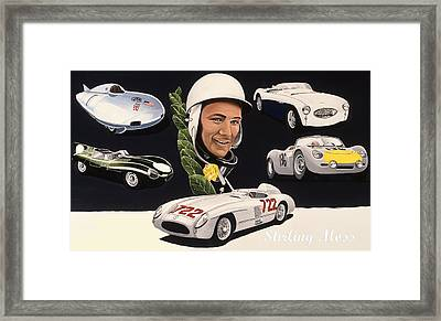 Stirling Moss Framed Print by Kevin Waite