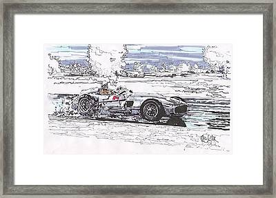 Stirling Moss Mercedes Benz Grand Prix Of Argentina Framed Print by Paul Guyer
