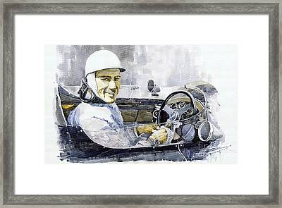 Stirling Moss Framed Print by Yuriy  Shevchuk
