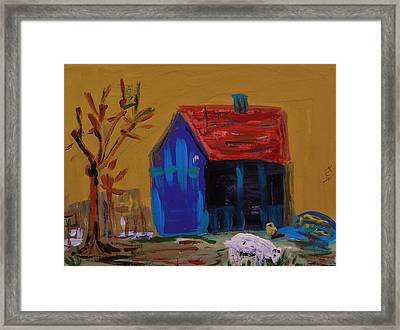 Stirring Barn Colors Framed Print by Mary Carol Williams