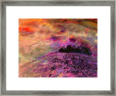 Stirrings In The Sea Framed Print by Shirley Sirois