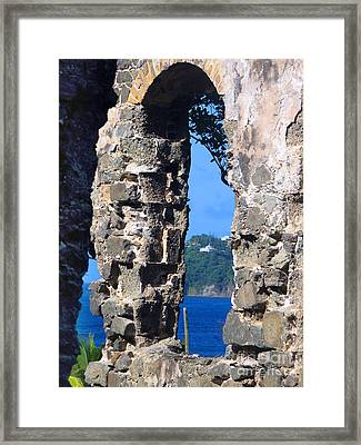 Stlucia - Ruins Framed Print by Gregory Dyer