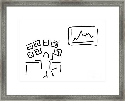 Stock Exchange Stockbroker Fund Manager Framed Print by Lineamentum