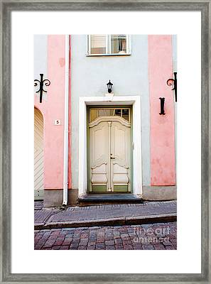 Stockholm Doorway Framed Print by Thomas Marchessault