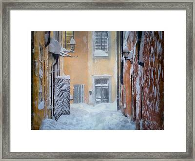 Stockholm In Winter Framed Print by Gun Legler