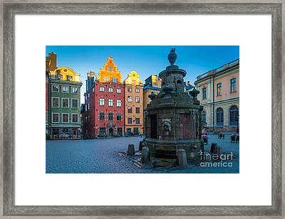 Stockholm Stortorget Framed Print by Inge Johnsson