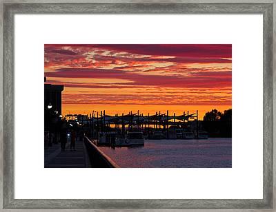 Stockton Sunset Framed Print by Randy Bayne