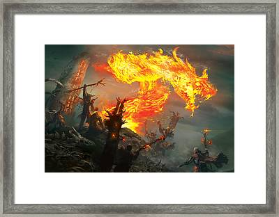 Stoke The Flames Framed Print by Ryan Barger