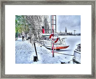 Stokholm Swiss Winter Framed Print by Yury Bashkin