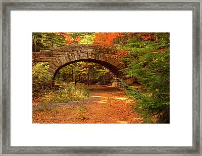 Stone Bridge, Part Of The Carriage Framed Print by Brian Jannsen