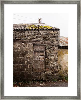 Stone Building In Ennistymon Framed Print by Ron St Jean
