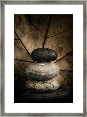 Stone Cairns II Framed Print by Marco Oliveira
