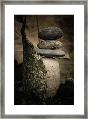 Stone Cairns IIi Framed Print by Marco Oliveira