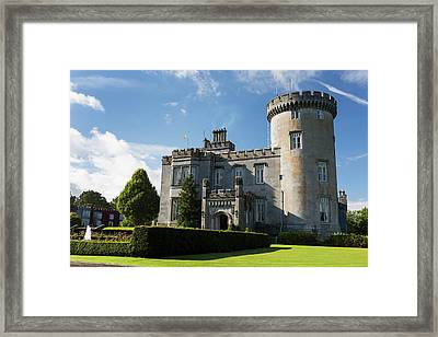 Stone Castle With Turret, Manicured Framed Print by Michael Interisano