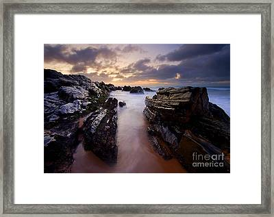 Stone Channel Framed Print by Mike  Dawson