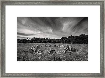 Stone Circle Ireland Framed Print by Pierre Leclerc Photography