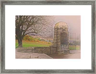 Stone Gate Framed Print by Tom Gari Gallery-Three-Photography