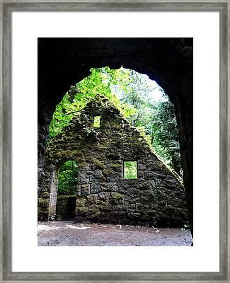 Stone House Doorway Framed Print by Lizbeth Bostrom