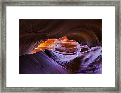 Stone Labyrinth Framed Print by Joseph Rossbach
