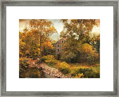 Stone Mill Views Framed Print by Jessica Jenney