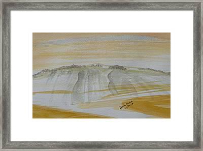 Stone Mountain Doodle Framed Print by Joel Deutsch