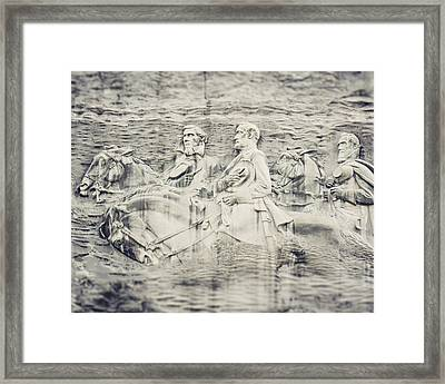 Stone Mountain Georgia Confederate Carving Framed Print by Lisa Russo