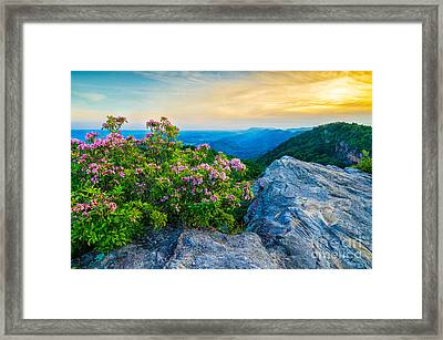 stone mountain KY Framed Print by Anthony Heflin