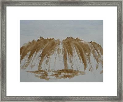 Stone Mountain Sketch Framed Print by Joel Deutsch