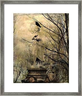 Stone Perch Framed Print by Gothicolors Donna Snyder