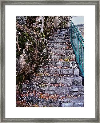 Stone Stairway Framed Print by Jane Schnetlage