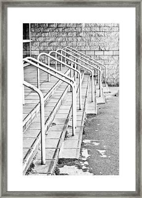 Stone Steps And Railings Framed Print by Tom Gowanlock