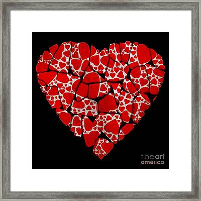 Stoned In Love Framed Print by Barbara Chichester