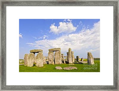 Stonehenge Stone Circle Wiltshire England Framed Print by Colin and Linda McKie