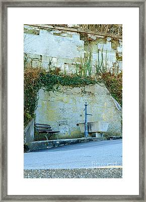 Stones And Water Framed Print by Felicia Tica